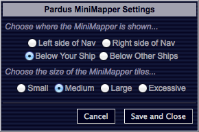 Pardus Mini Mapper Settings